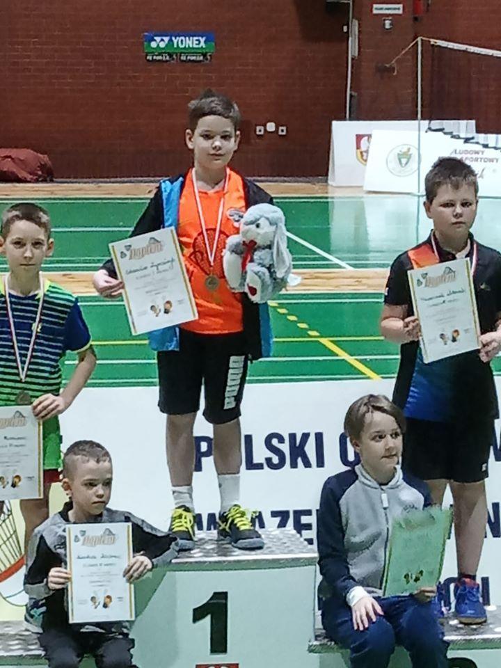 Opolski turniej dzieci, żaków i młodzików młodszych w badmintonie i para badmintonie u9 u11 u13 w głubczycach 29.02.2020